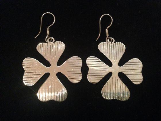 d5ba80239 Four Leaf Clover Silver Earrings - Gorgeous Gems