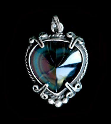 Rare rainbow obsidian pendant gorgeous gems rare rainbow obsidian pendant aloadofball Image collections