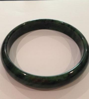 Nephrite Jade Dark Green Bangle
