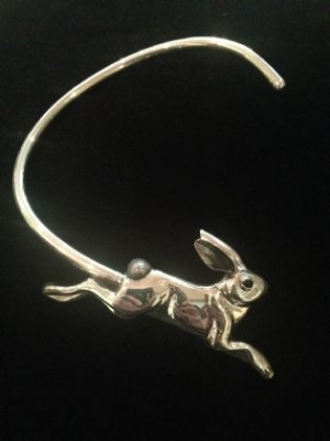 Unique Sterling Silver Open Bunny Choker