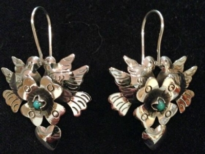 Maria Belen Silver Earrings with Turquoise