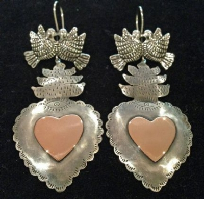 Maria Belen Silver and Copper Earrings