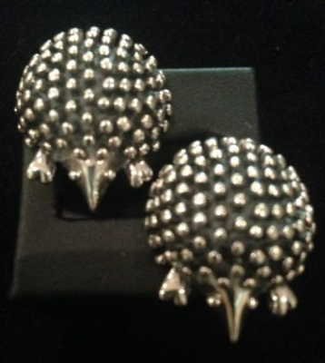 Hedgehog Sterling Silver Stud Earrings