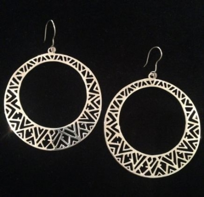 Over-sized Sterling Silver Hoop Earrings