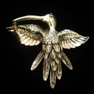 Hummingbird Necklace, Pendant & Brooch