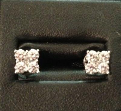 Princess Diamond 0.75ct 18ct White Gold Earrings