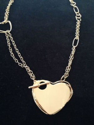 18ct Gold Heart Fob Necklace