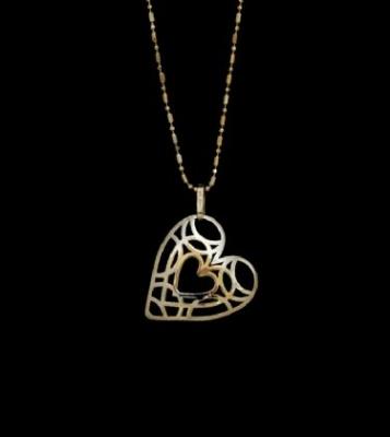 18ct Gold Filigree Heart & Chain