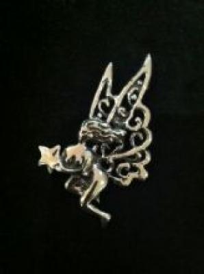 Maria Belen Sterling Silver Fairy Pendant