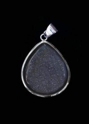 Sparkling Drusy Quartz Pendant