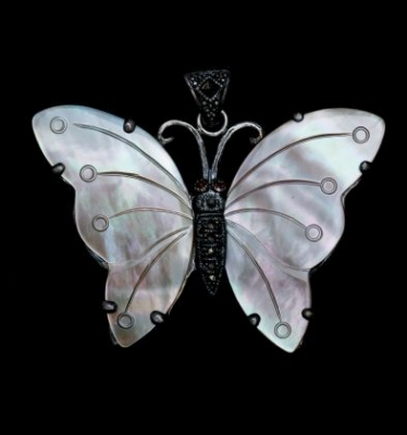 Butterfly With Marcasite Pendant