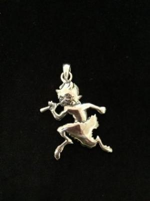 Sterling Silver Pan Pendant