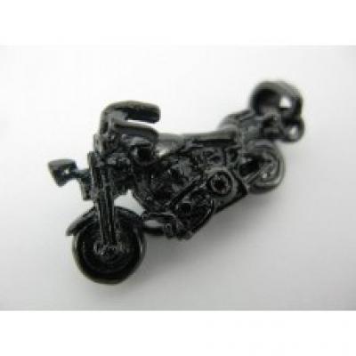 Black Ion Plated Motorbike Pendant