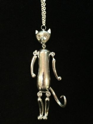 Crazy Cat Articulated Necklace