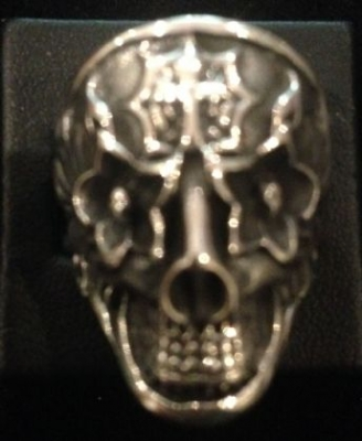 Skull Ring Sterling Silver Day of the Dead