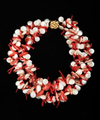 Breathtaking Pearl & Coral Necklace