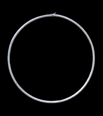 18ct White Gold Omega Necklace