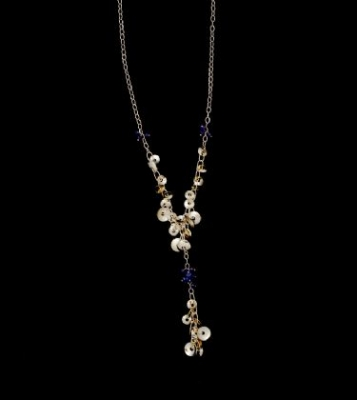 18ct Gold & Iolite Necklace
