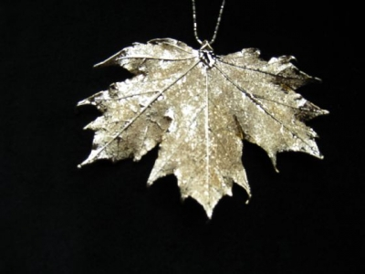 24ct Gold Plated Leaf on Chain