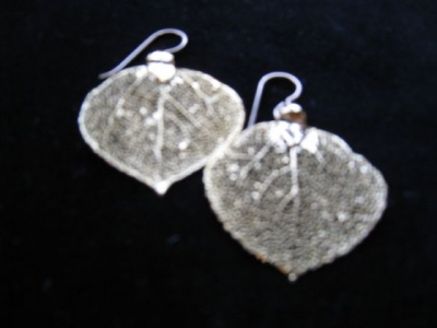 24ct Gold Plated Leaf Earrings