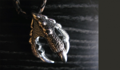 Griffin Claw Silver Pendant