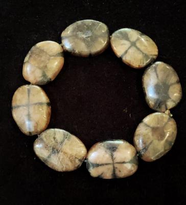 Unique Handmade Chiastolite Bracelet