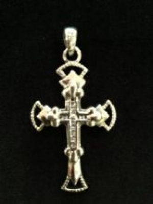 Silver Cross Set With Cubic Zirconia
