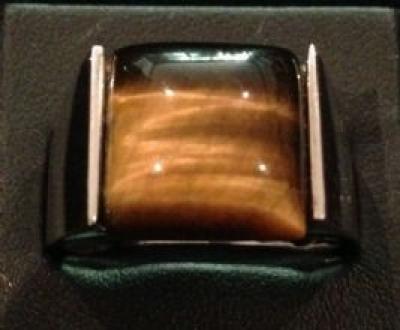 Tiger's-Eye Silver Ring