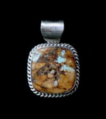 Bill Mex Square Navajo Pendant