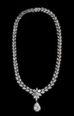 Cubic Zirconia Statement Necklace
