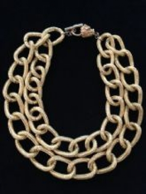 18ct Gold Plated Double Layer Chain Necklace