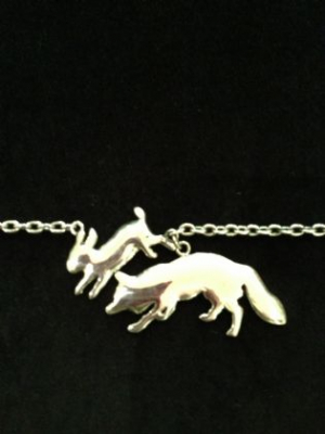 Fox & Bunny Sterling Silver Necklace