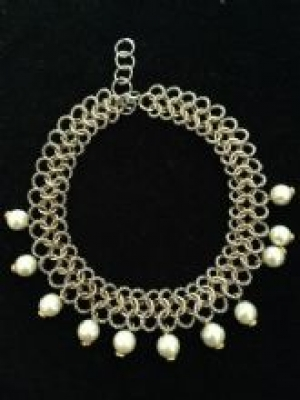 Pearl, Silver & Gold Statement Necklace