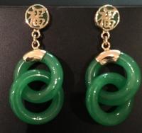 jade loop earrings