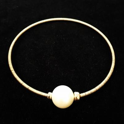 Freshwater Pearl Gold Wire Bracelet