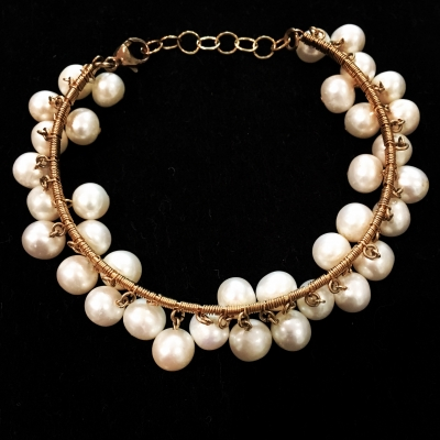Freshwater Pearl 14ct Yellow Gold Filled Bracelet