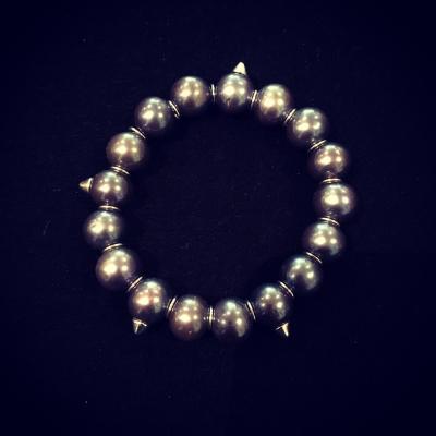Freshwater Pearl & Silver Rock 'n Roll Bracelet