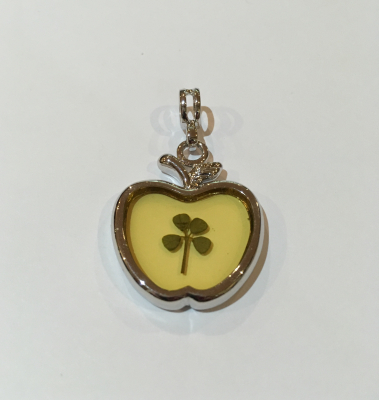 Four Leaf Clover Apple Charm