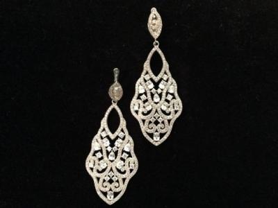 Stunning Silver & Cubic Zirconia Earrings