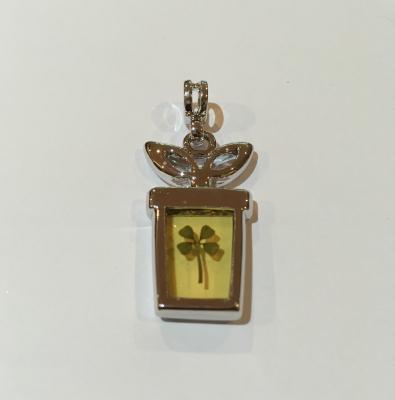 Four Leaf Clover Flowerpot Charm