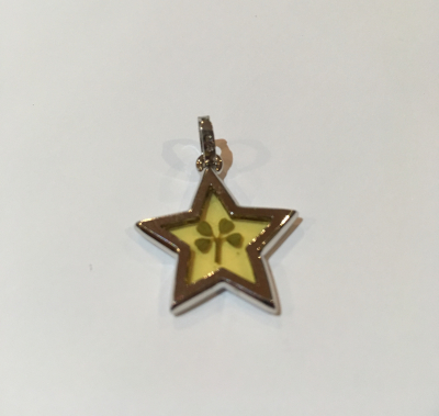 Four Leaf Clover Star Pendant
