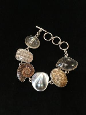 Fossil Sterling Silver Fob Bracelet