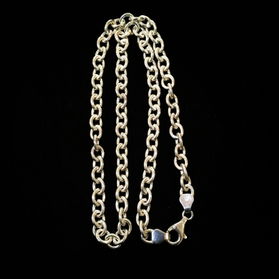Heavy 16 Inch Sterling Silver Cable Chain
