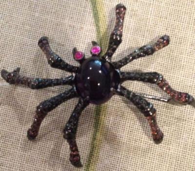 Amethyst Spider Brooch & Pendant
