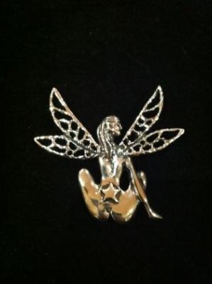 Maria Belen Cheeky Silver Fairy Brooch