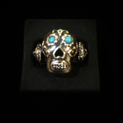 Andrew Valdez Handmade Sterling Silver Skull Ring