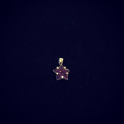 Purple Cubic Zirconia Baby Star Pendant