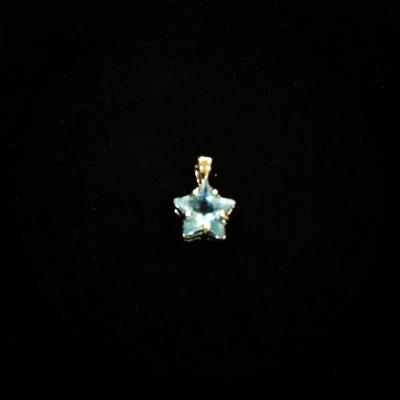 Blue Cubic Zirconia Baby Star Pendant