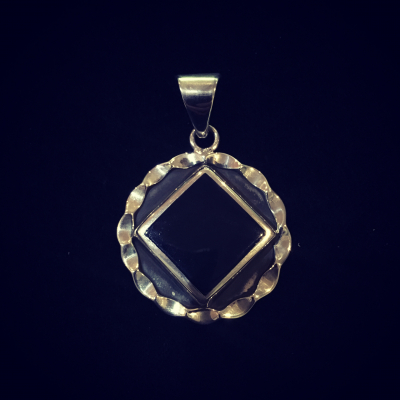 Sterling Silver Onyx Pendant