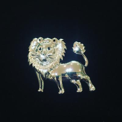 Leo Lion Silver Brooch